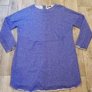 Blue Cotton sweatshirt plus size dress/tunic 2XL